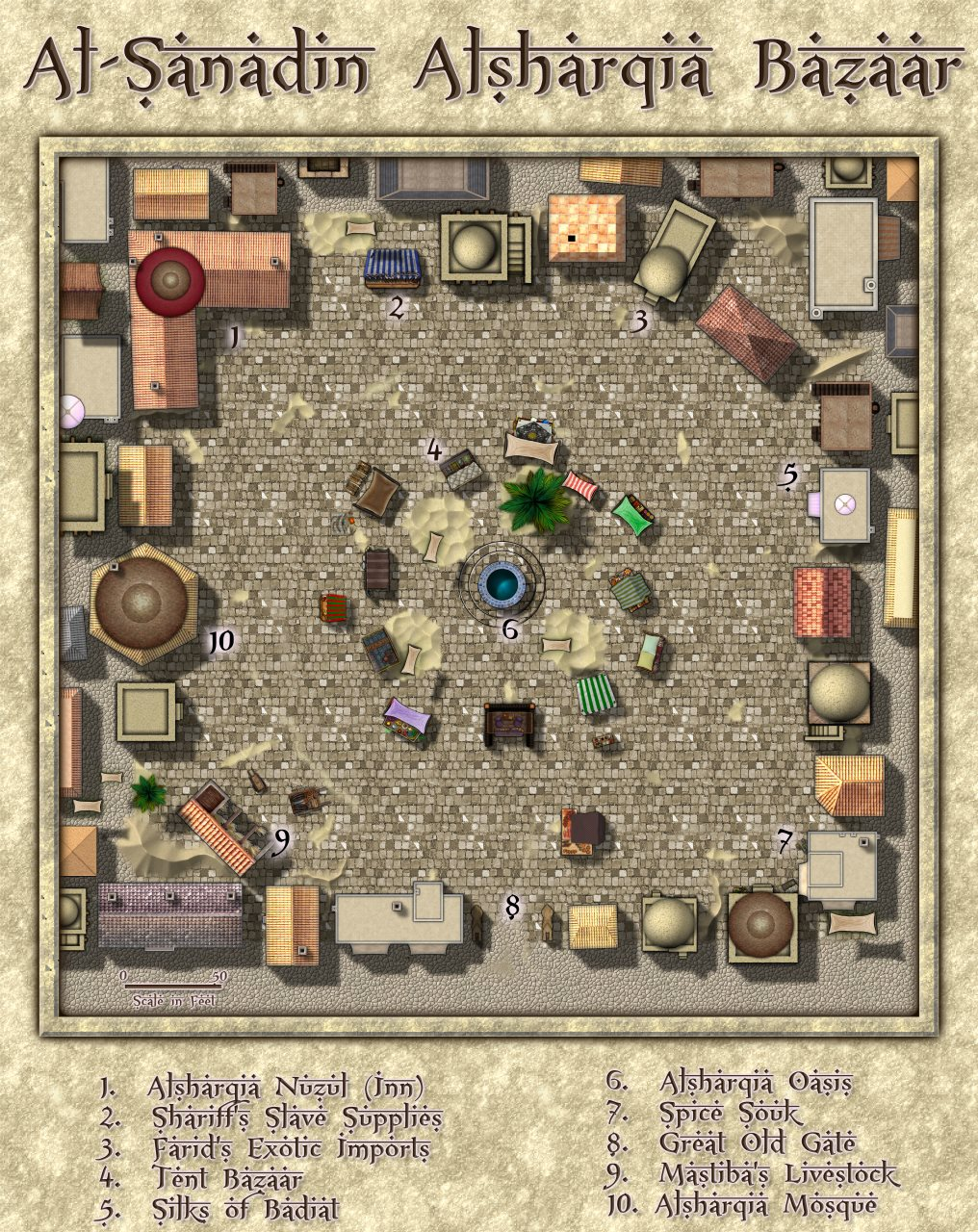 Nibirum Map: al-sanadin eastern bazaar by Lorelei