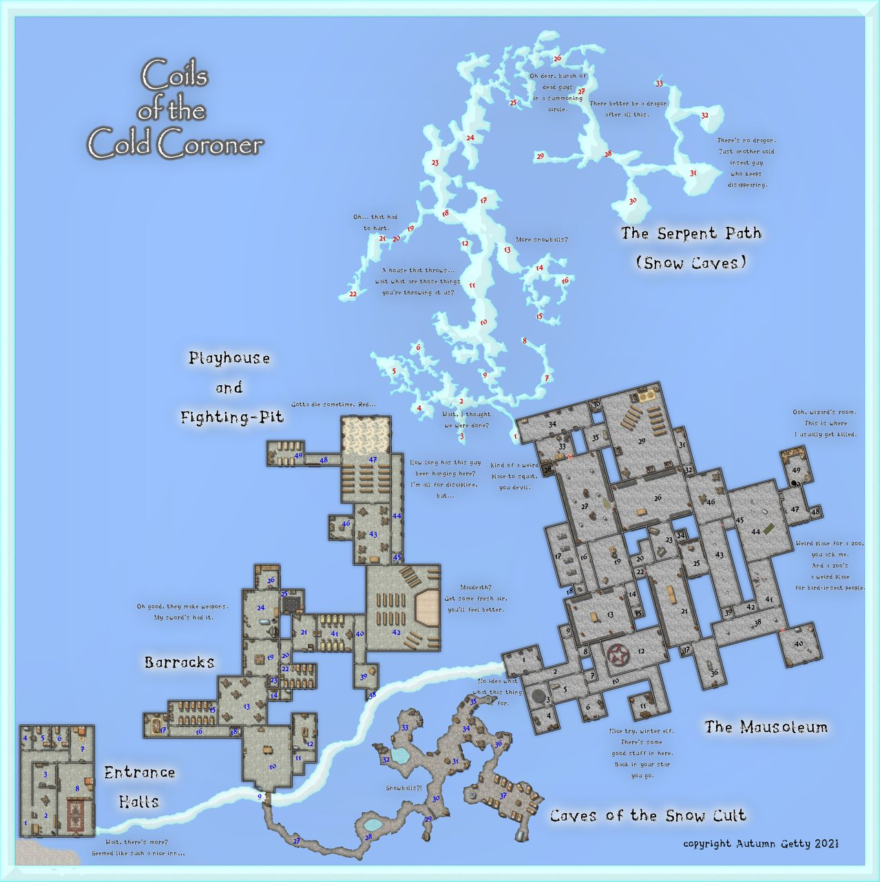 Nibirum Map: coils of the cold coroner by Autumn Getty