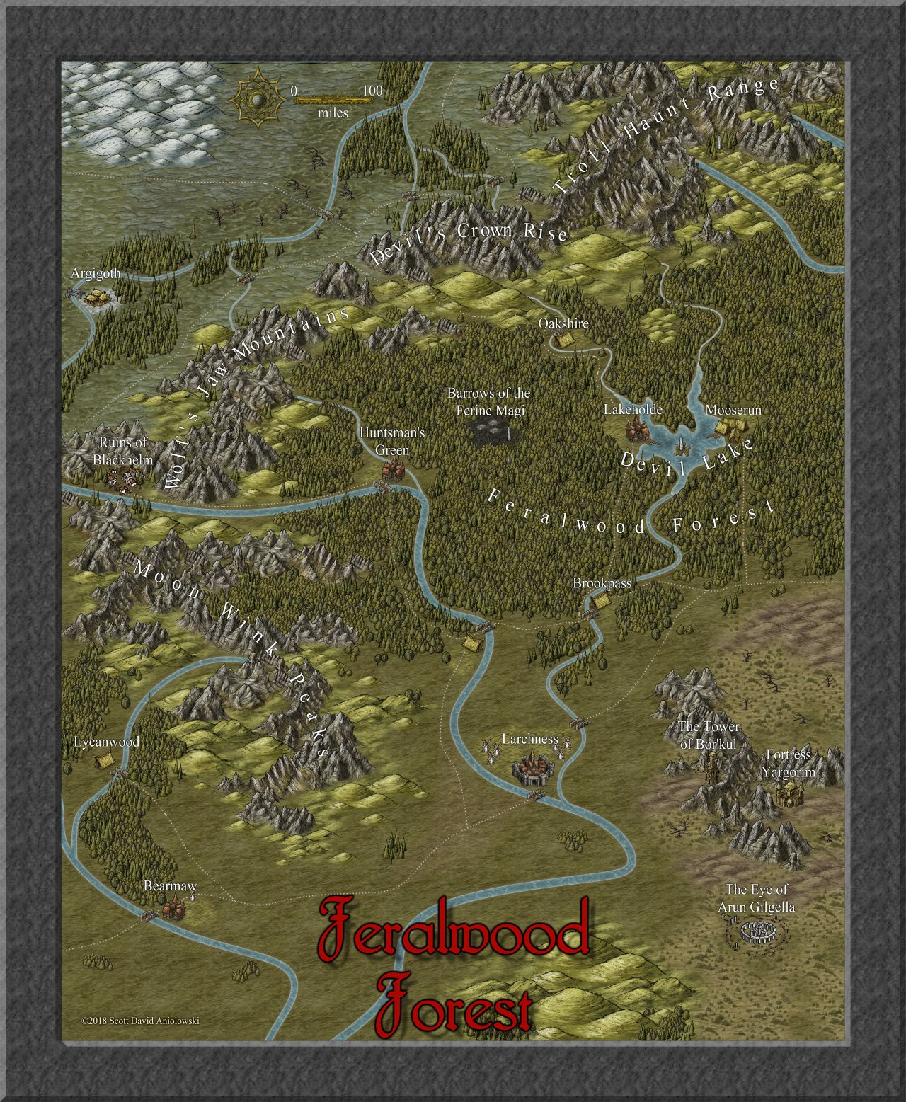 Nibirum Map: feralwood forest by ScottA