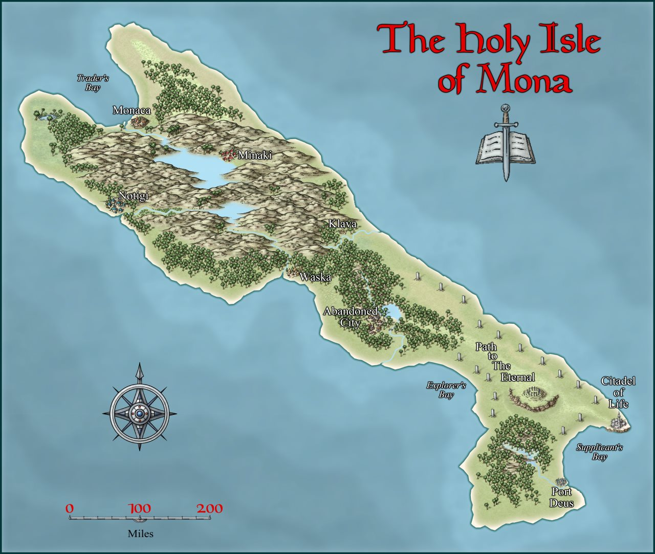 Nibirum Map: holy isle of mona by Shessar