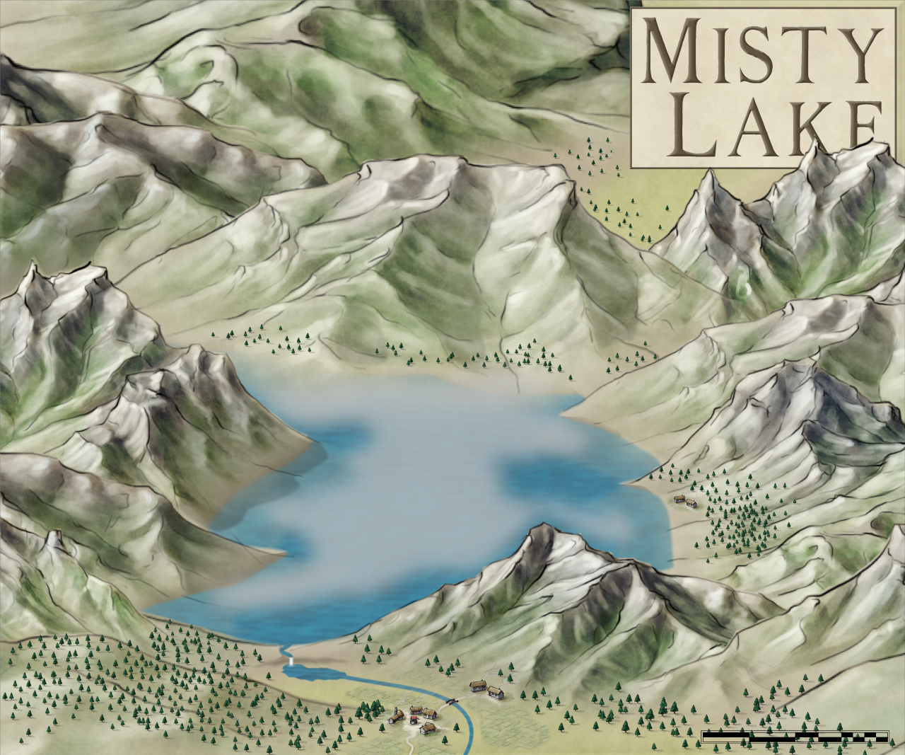 Nibirum Map: misty lake by HadrianVI
