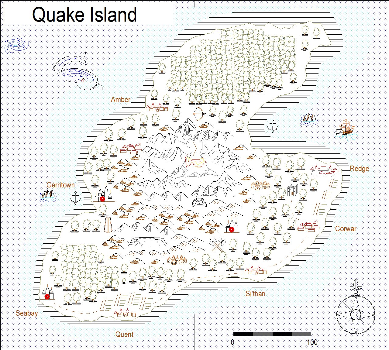 Nibirum Map: quake island by Monsen