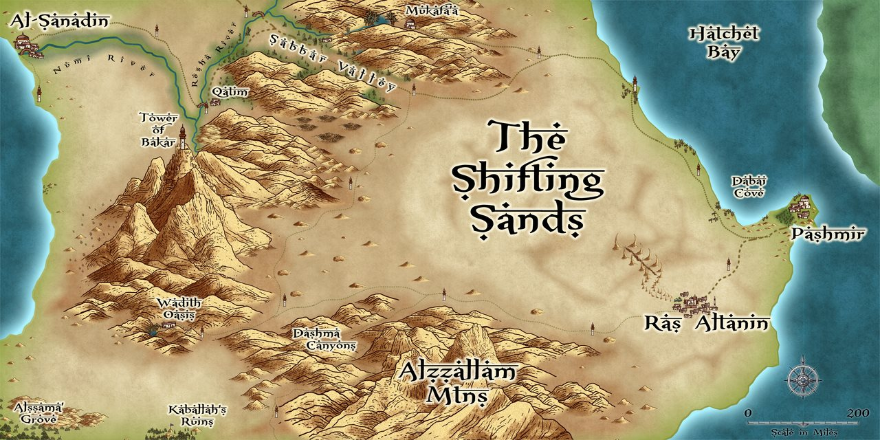 Nibirum Map: shifting sands by Lorelei