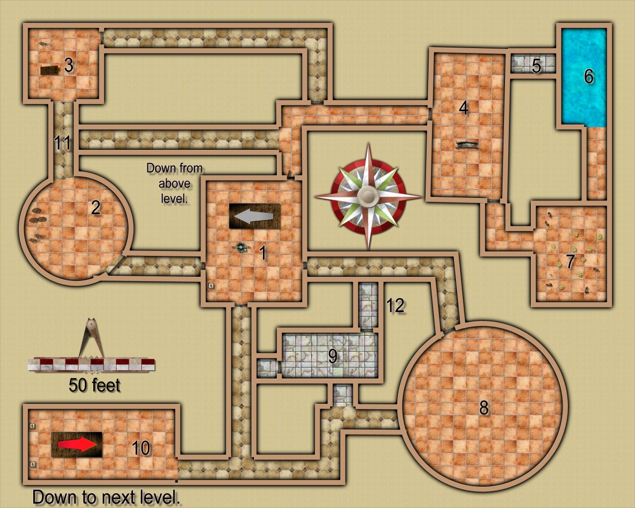 Nibirum Map: temple of the unholy dungeon level 02 by JimP