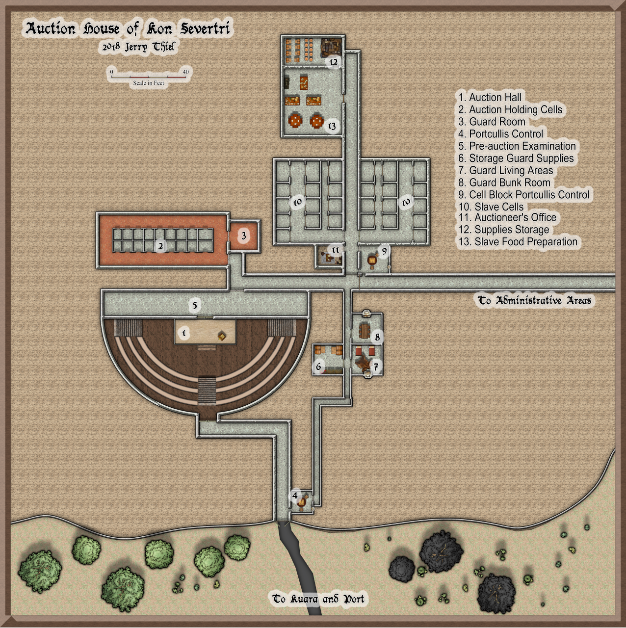 Nibirum Map: Auction House by Jerry Thiel