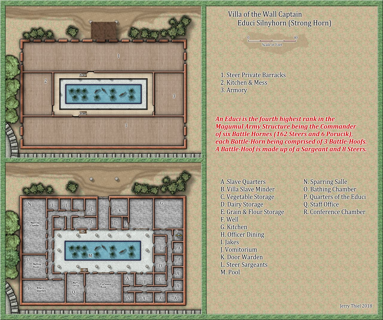 Nibirum Map: Bull Quarters Villa Educi by Jerry Thiel