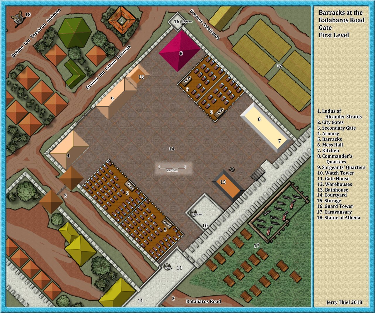 Nibirum Map: Katabaros Road Barracks First Floor by Jerry Thiel