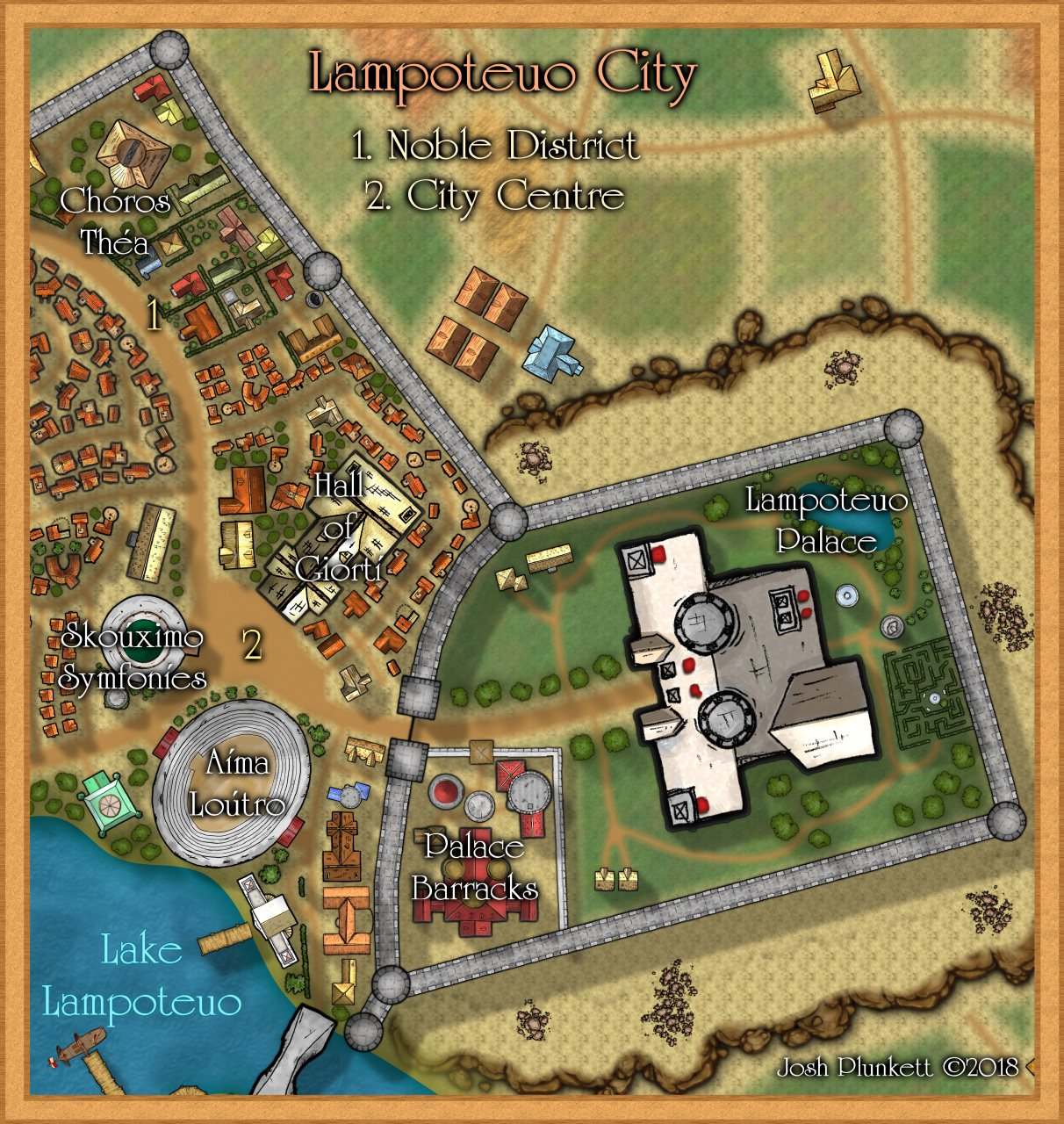 Nibirum Map: Lampoteuo City City Centre Noble District by Josh Plunkett