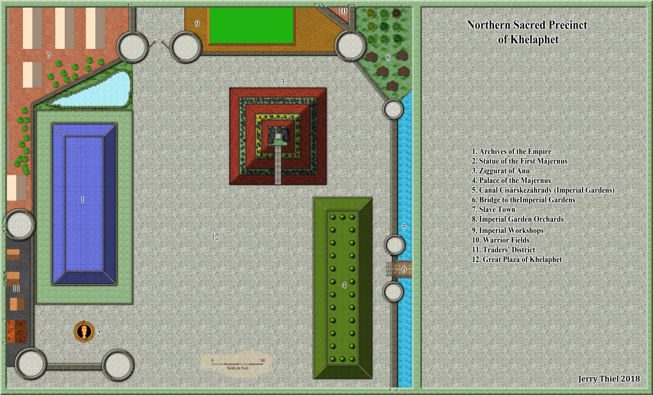 Nibirum Map: Northern Sacred Precinct by Jerry Thiel