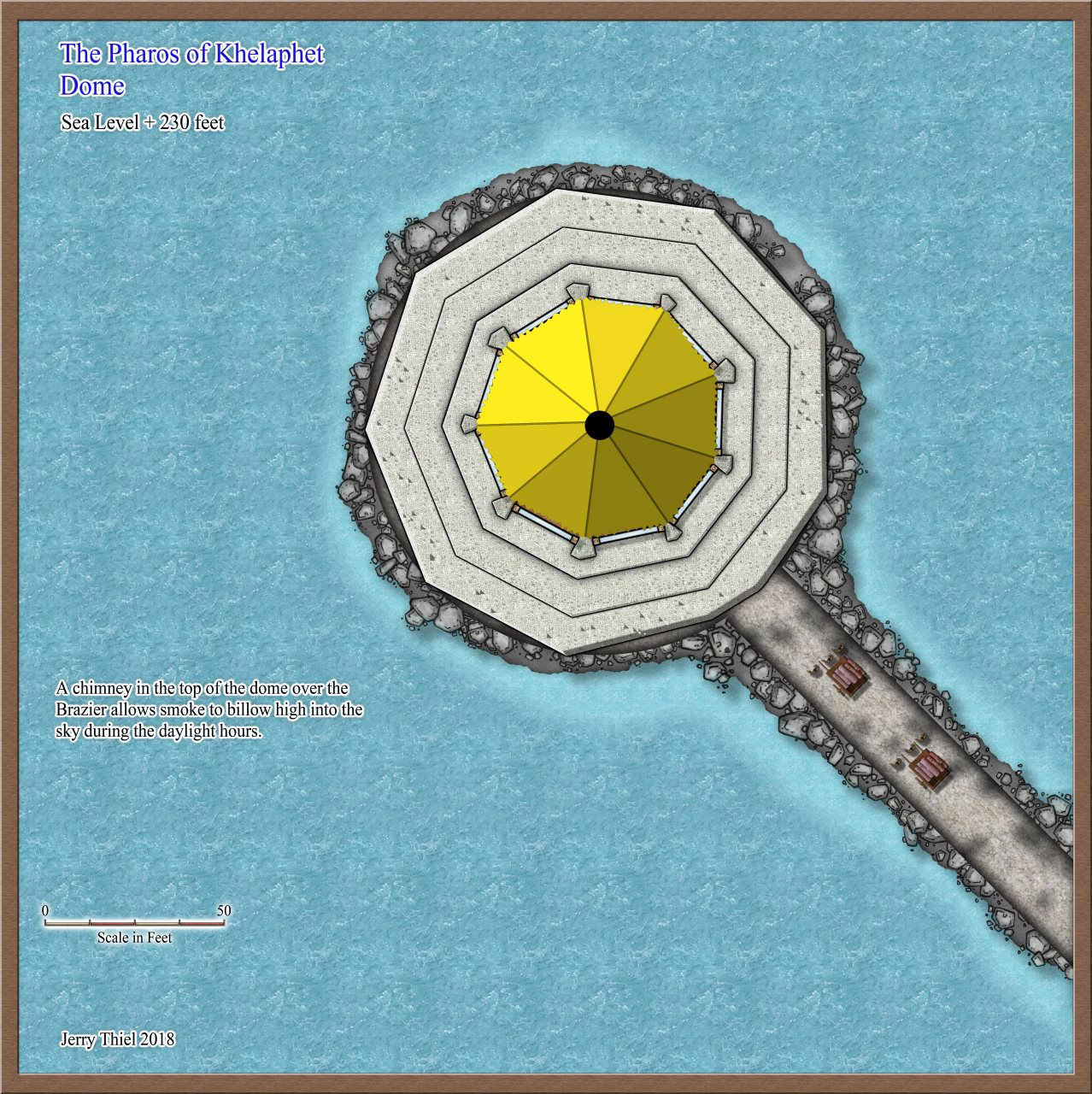 Nibirum Map: Pharos of Khelaphet dome by Jerry Thiel