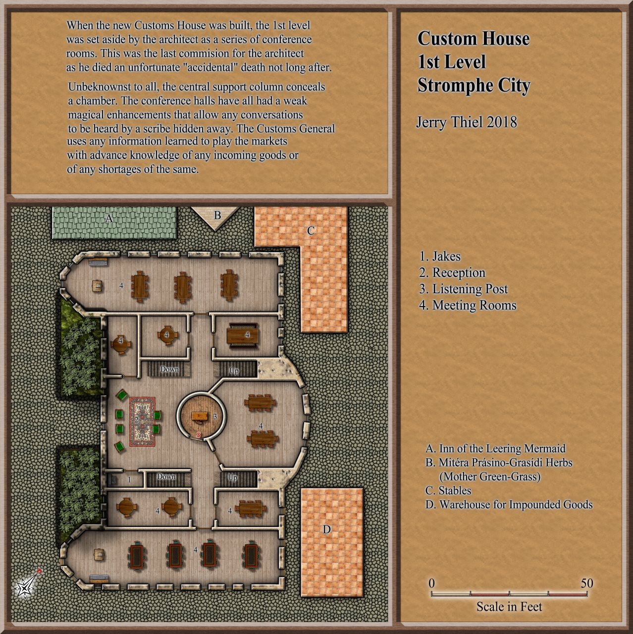 Nibirum Map: Stromphe Custom House 1st floor by Jerry Thiel