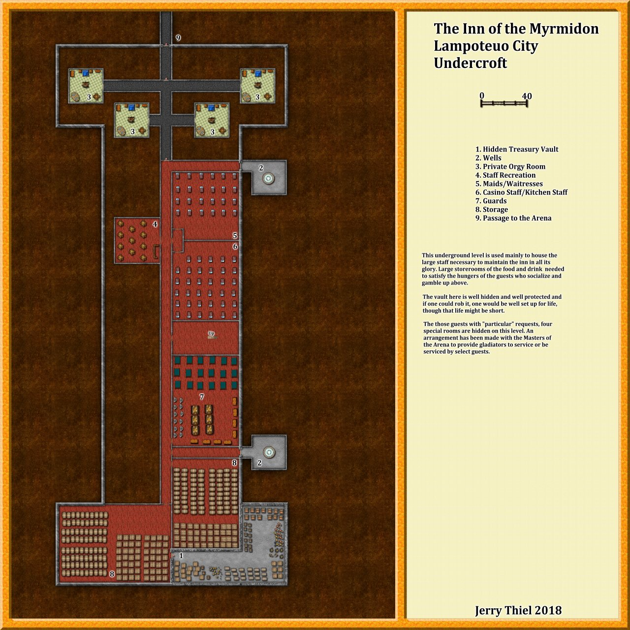 Nibirum Map: The Inn of the Myrmidon Underground by Jerry Thiel