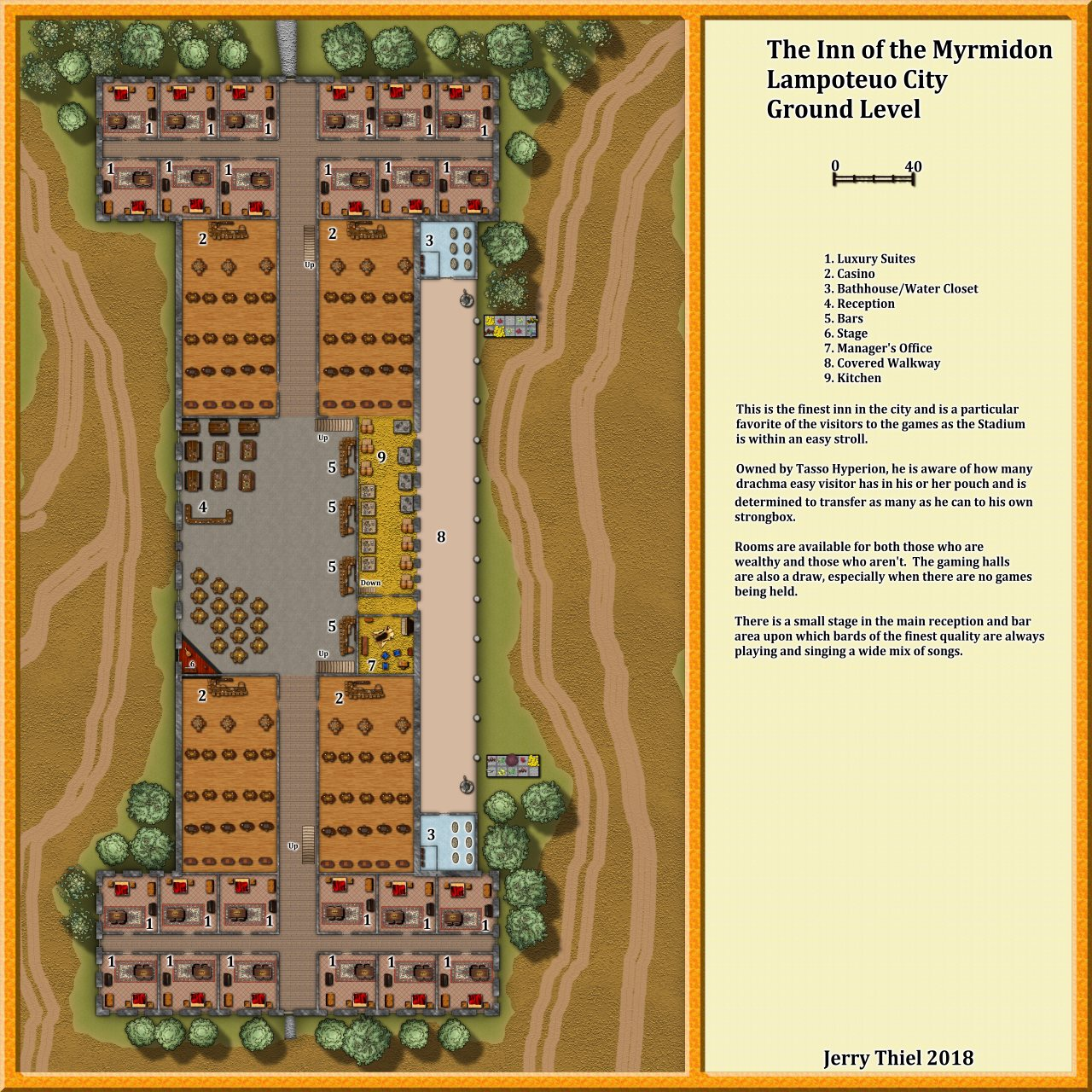 Nibirum Map: The Inn of the Myrmidon by Jerry Thiel