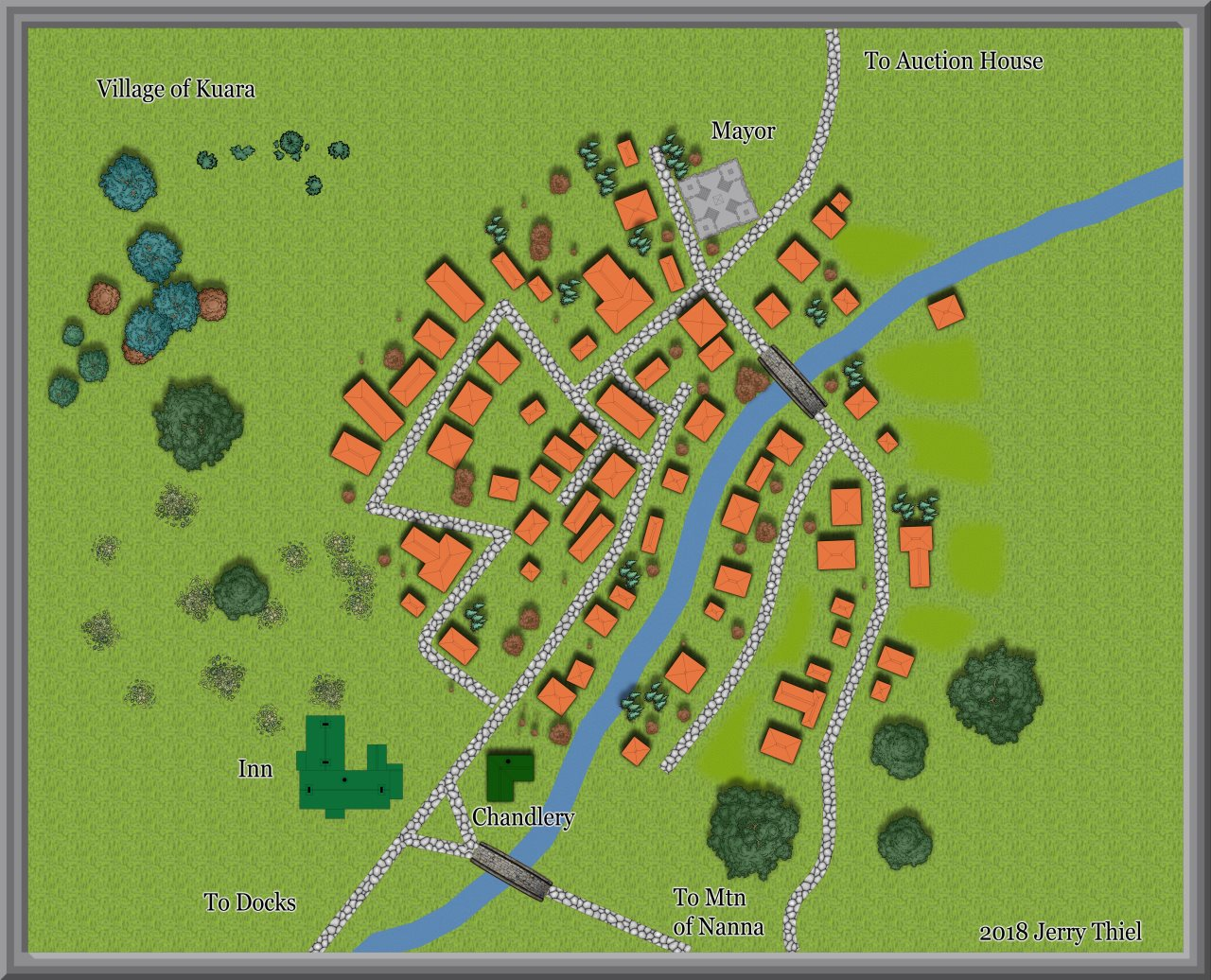 Nibirum Map: Village of Kuara by Jerry Thiel