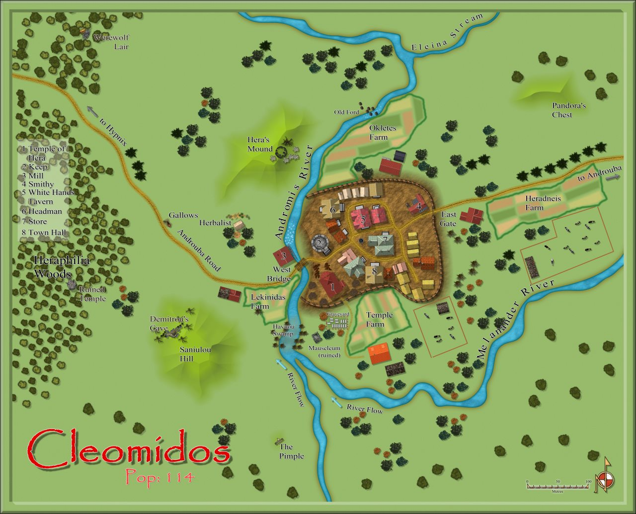 Nibirum Map: cleomidos by Quenten Walker
