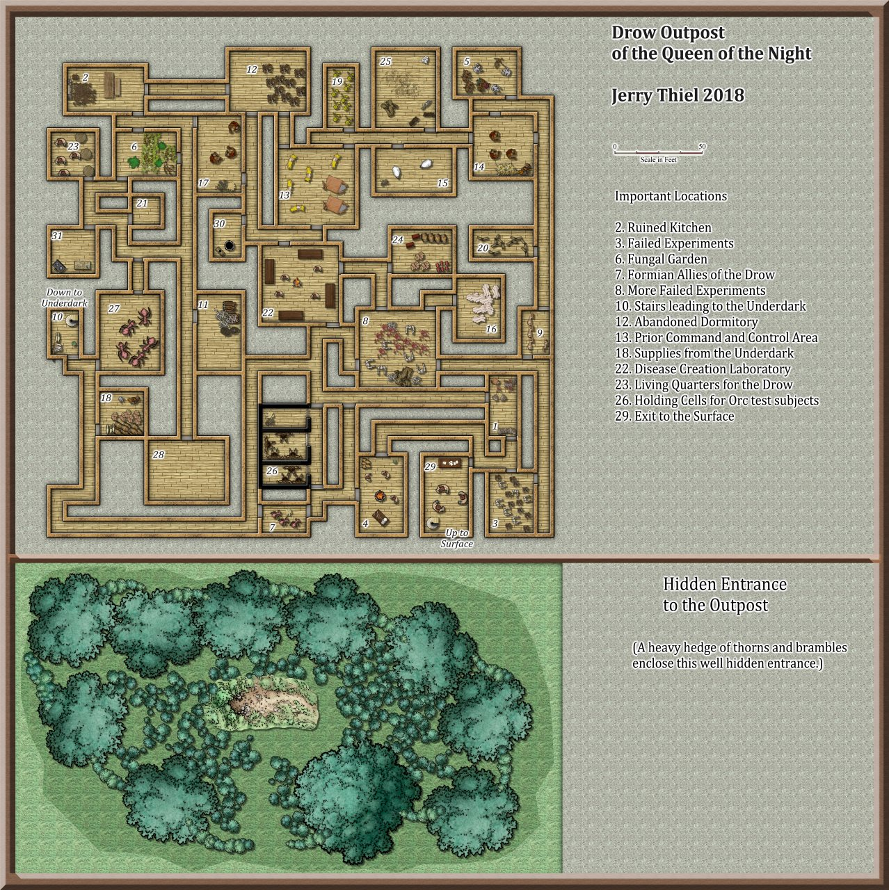 Nibirum Map: drow outpost by Jerry Thiel