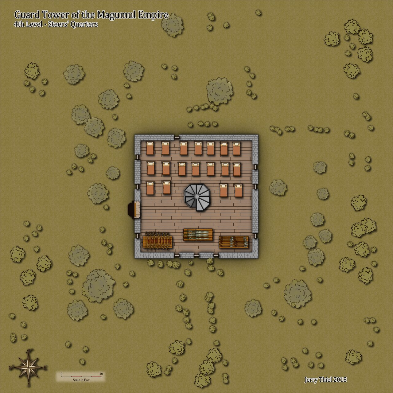 Nibirum Map: guard tower 4th floor by Jerry Thiel