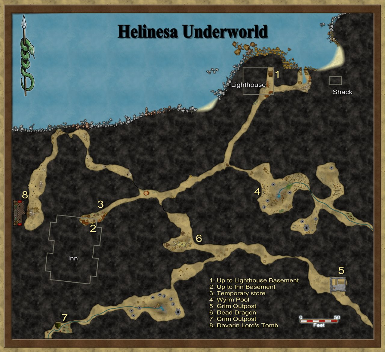 Nibirum Map: helinesa underworld by Quenten Walker