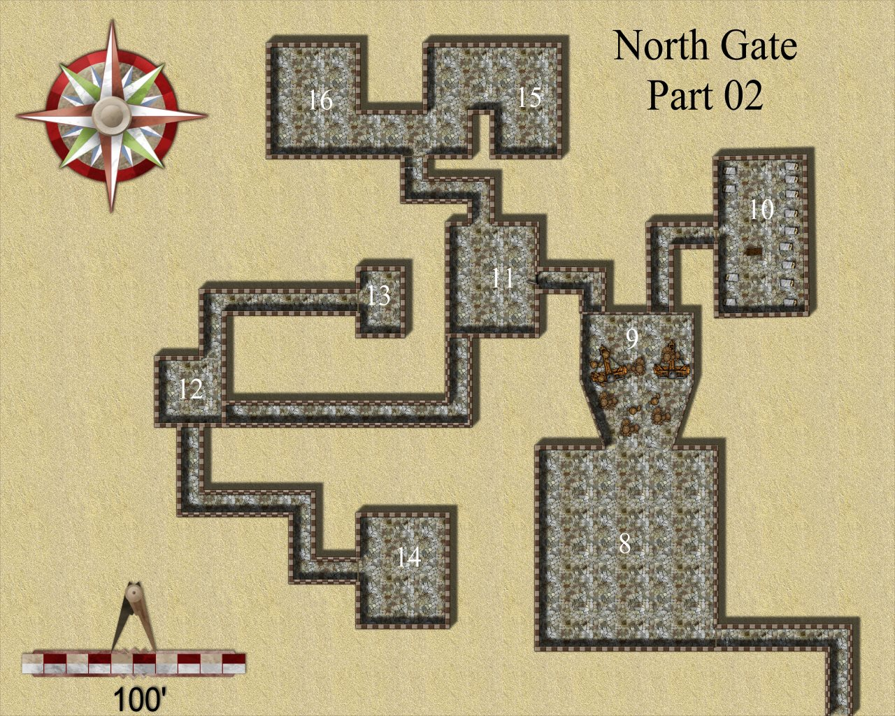 Nibirum Map: north gate 2 by JimP
