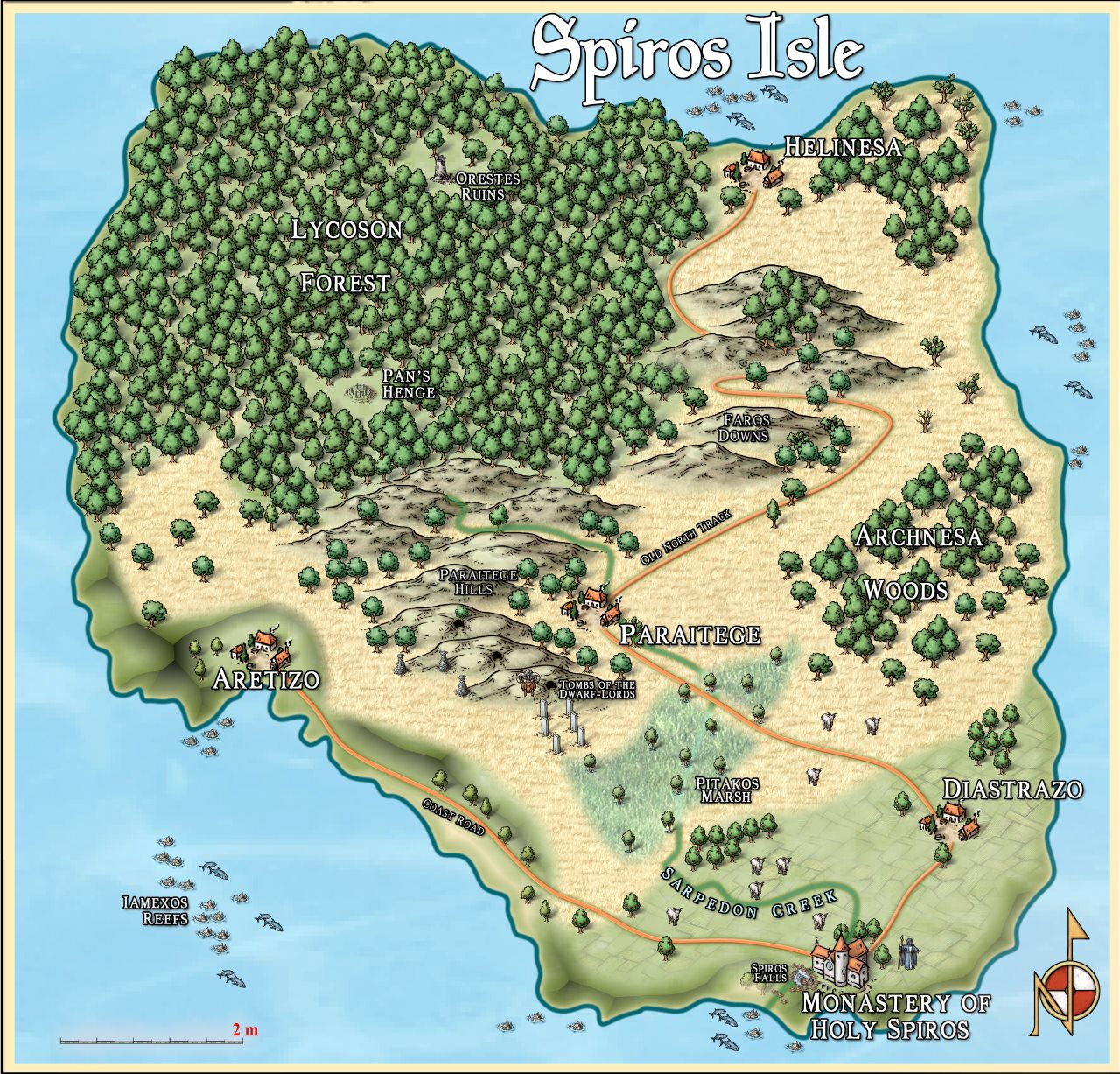 Nibirum Map: spiros isle by Quenten Walker