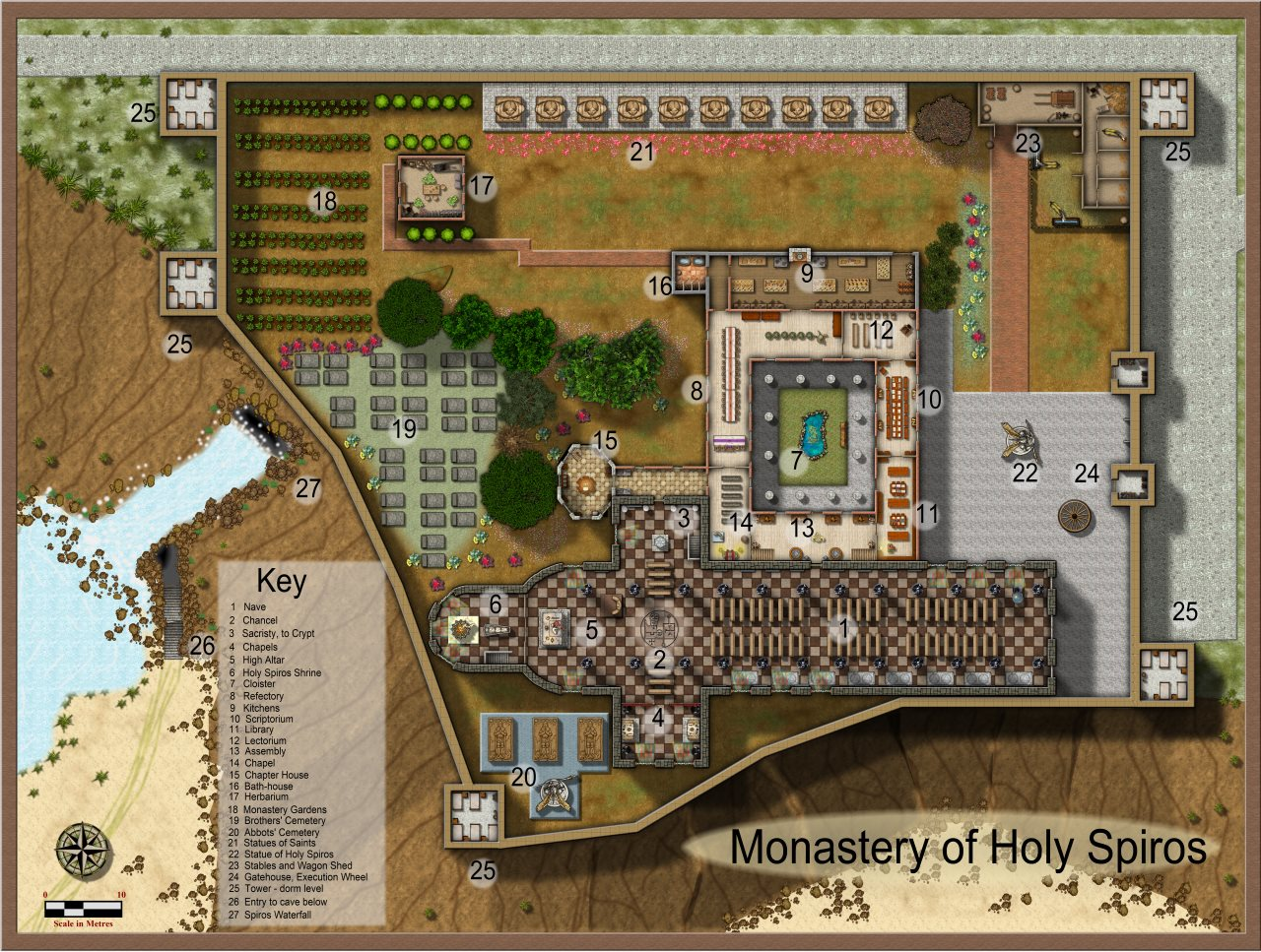 Nibirum Map: spiros monastery by Quenten Walker