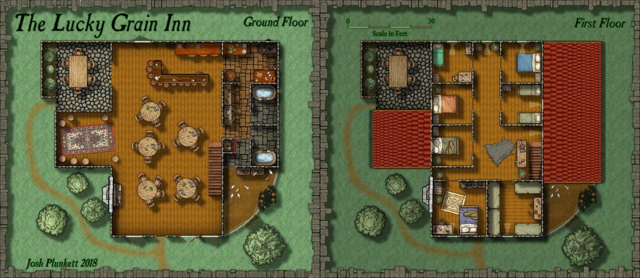 Nibirum Map: the lucky grain inn by Josh Plunkett