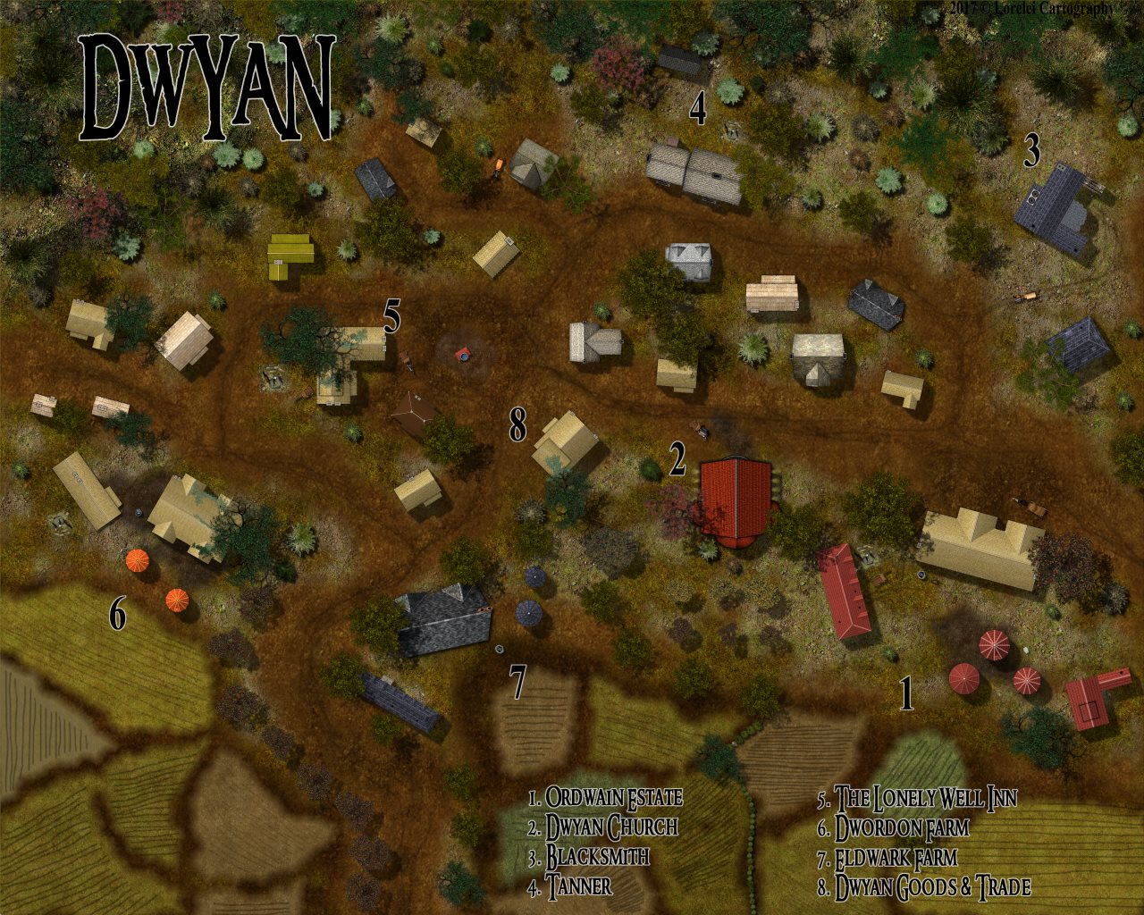 Nibirum Map: dwyan village by Lorelei