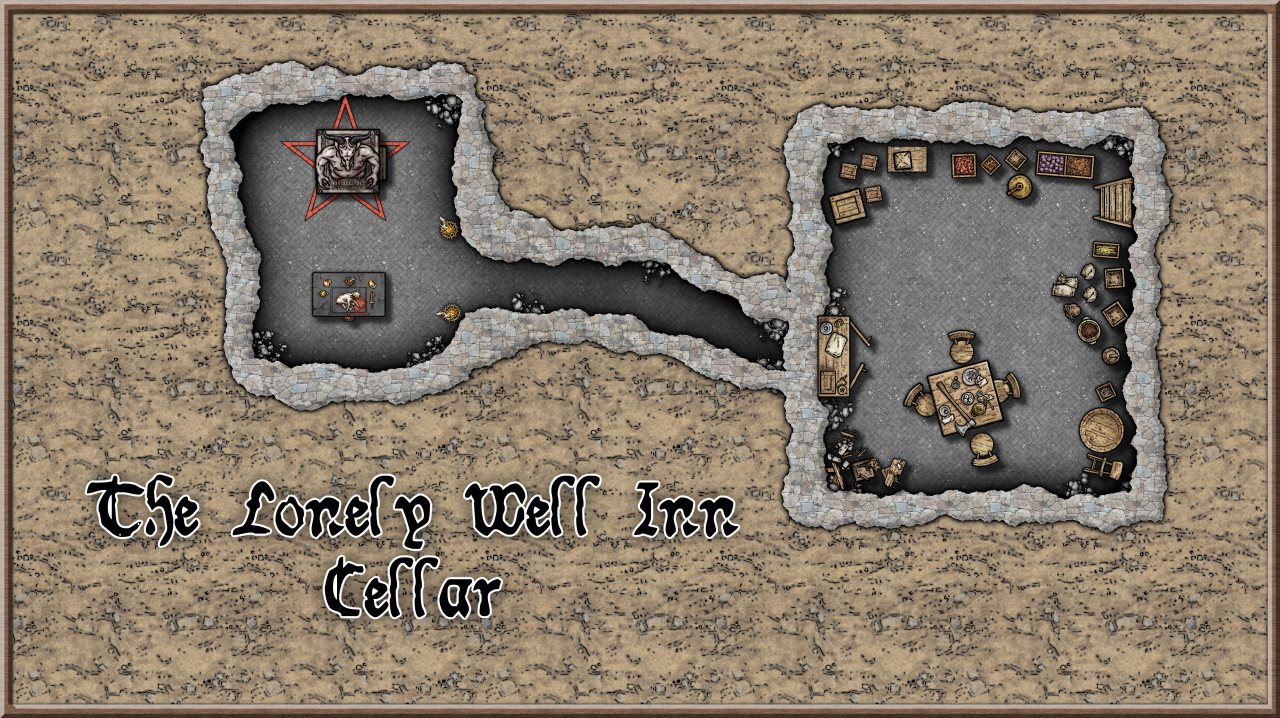Nibirum Map: lonely well inn cellar by Lorelei