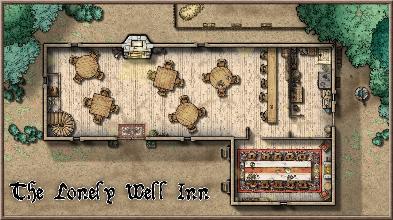 Nibirum Map: lonely well inn by Lorelei