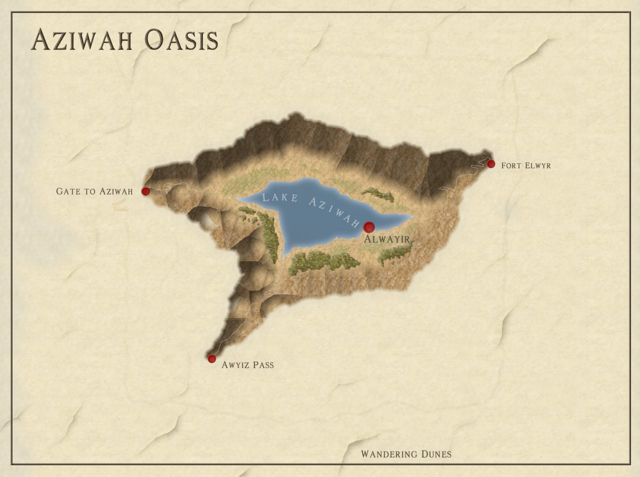 Nibirum Map: Aziwah Oasis by HadrianVI