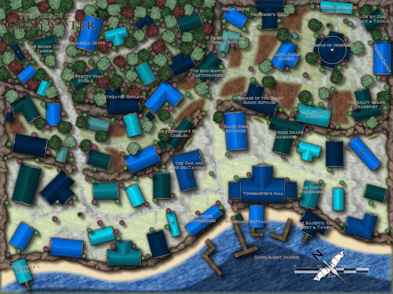 Nibirum Map: claywater by Louise (pixelkitteh)