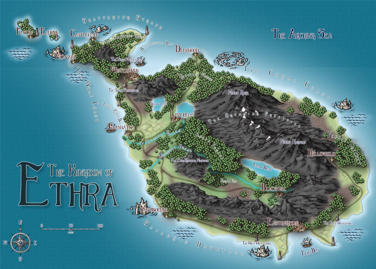 Nibirum Map: ethra by Louise (pixelkitteh)