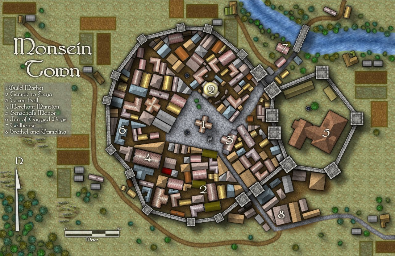 Nibirum Map: monsein town by Quenten Walker