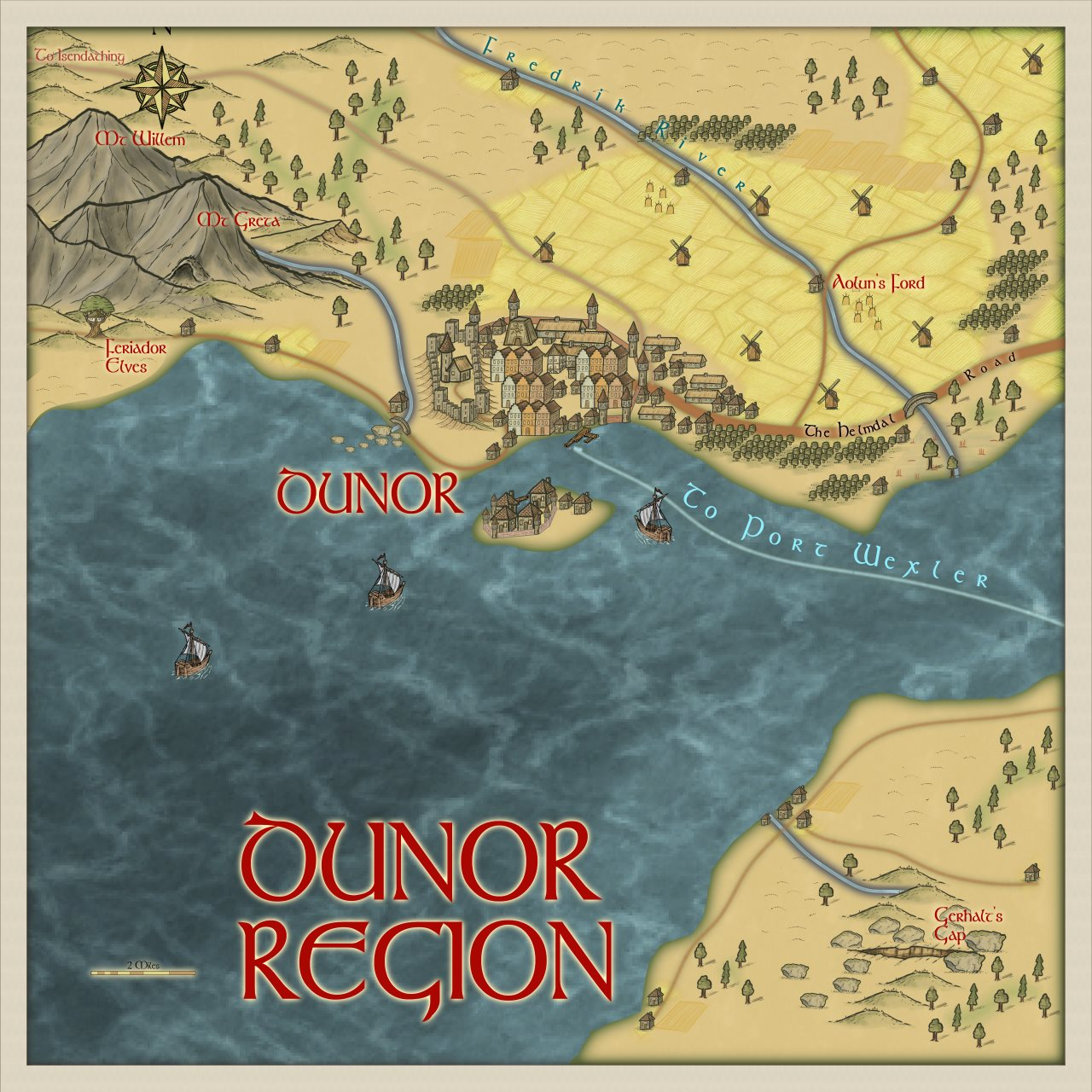 Nibirum Map: dunor region by Quenten Walker
