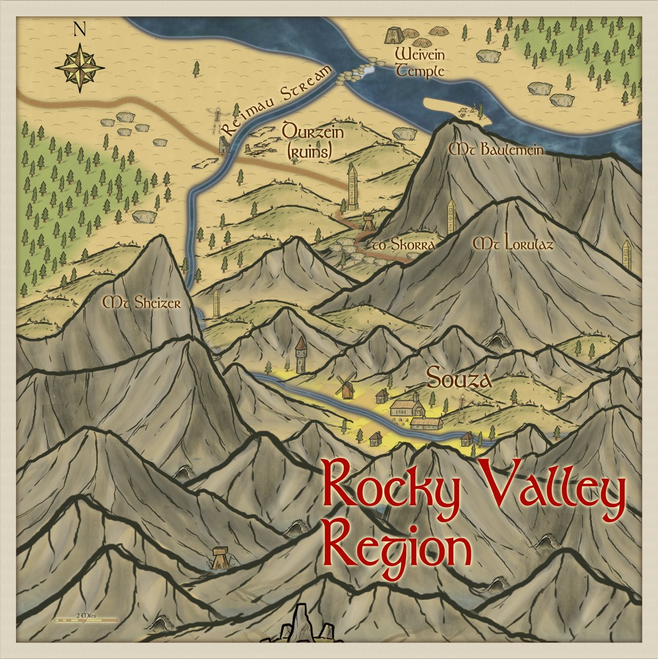 Nibirum Map: rocky valley region by Quenten Walker