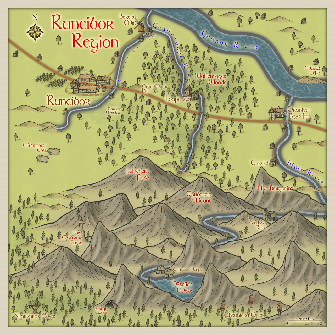 Nibirum Map: runcibor region by Quenten Walker