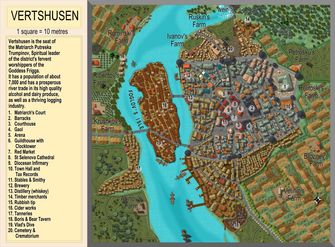 Nibirum Map: vertshusen city by Quenten Walker