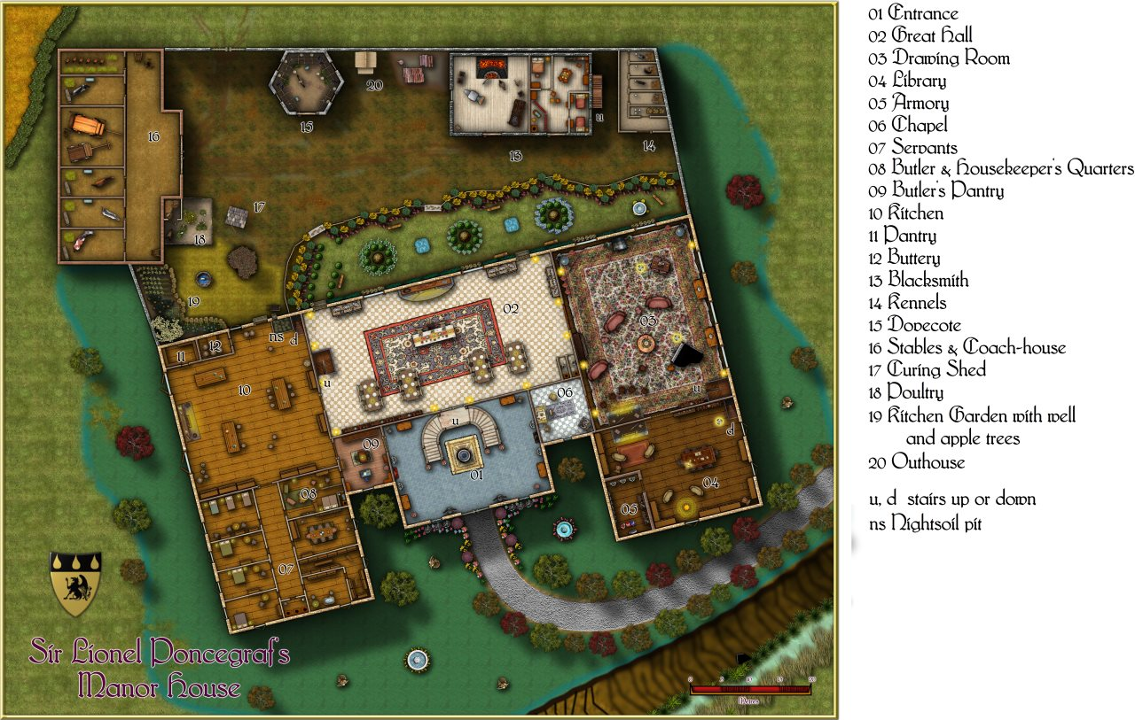 Nibirum Map: Poncegraf Manor House by Quenten Walker