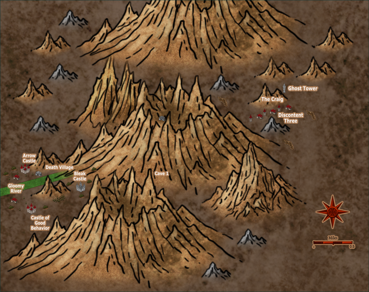 Nibirum Map: caldera environs by JimP