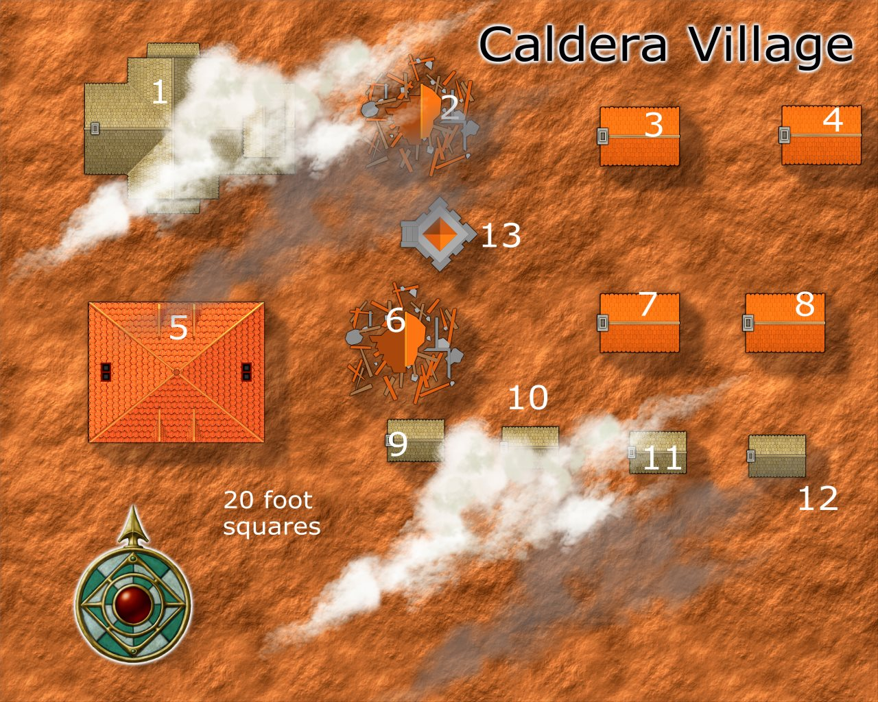 Nibirum Map: caldera village by JimP