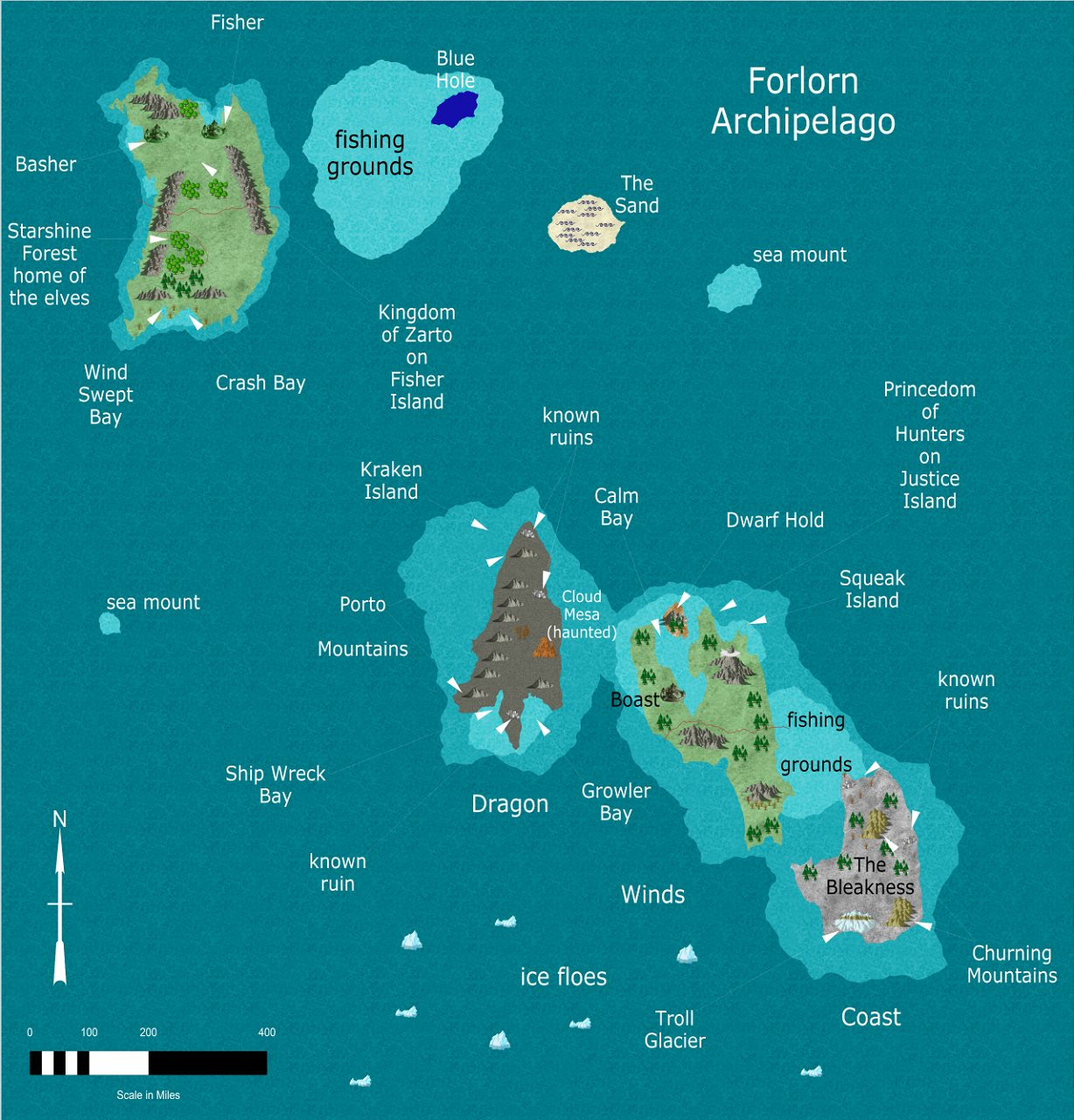 Nibirum Map: forlorn archipelago by JimP