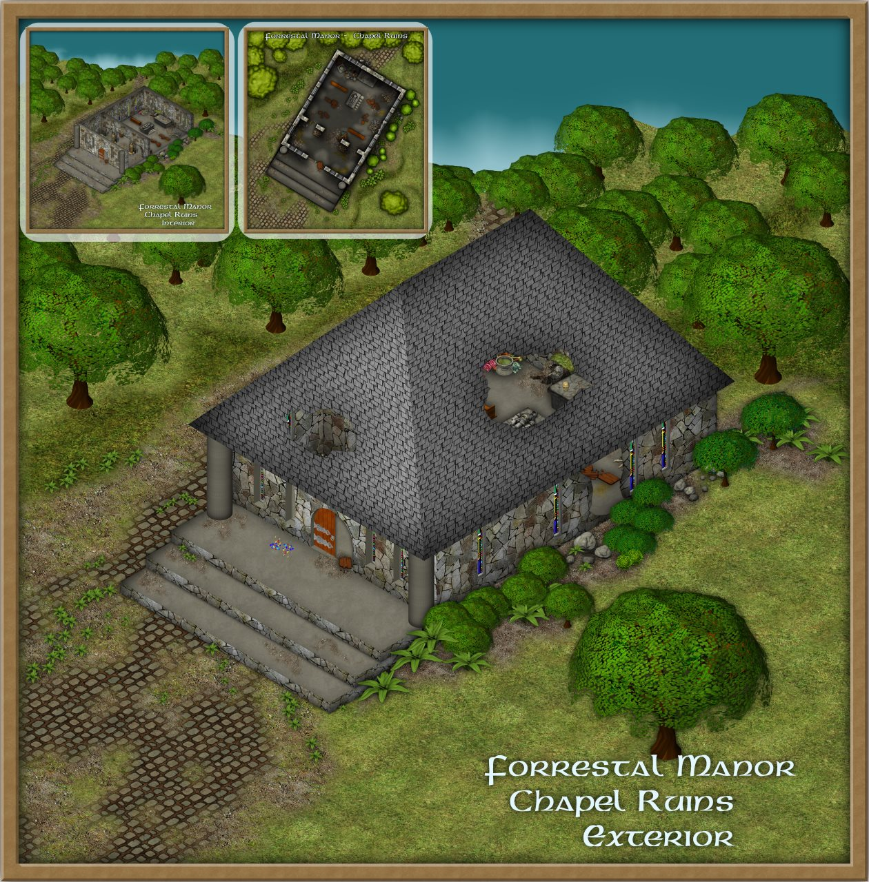 Nibirum Map: forrestal chapel - exterior by Shessar