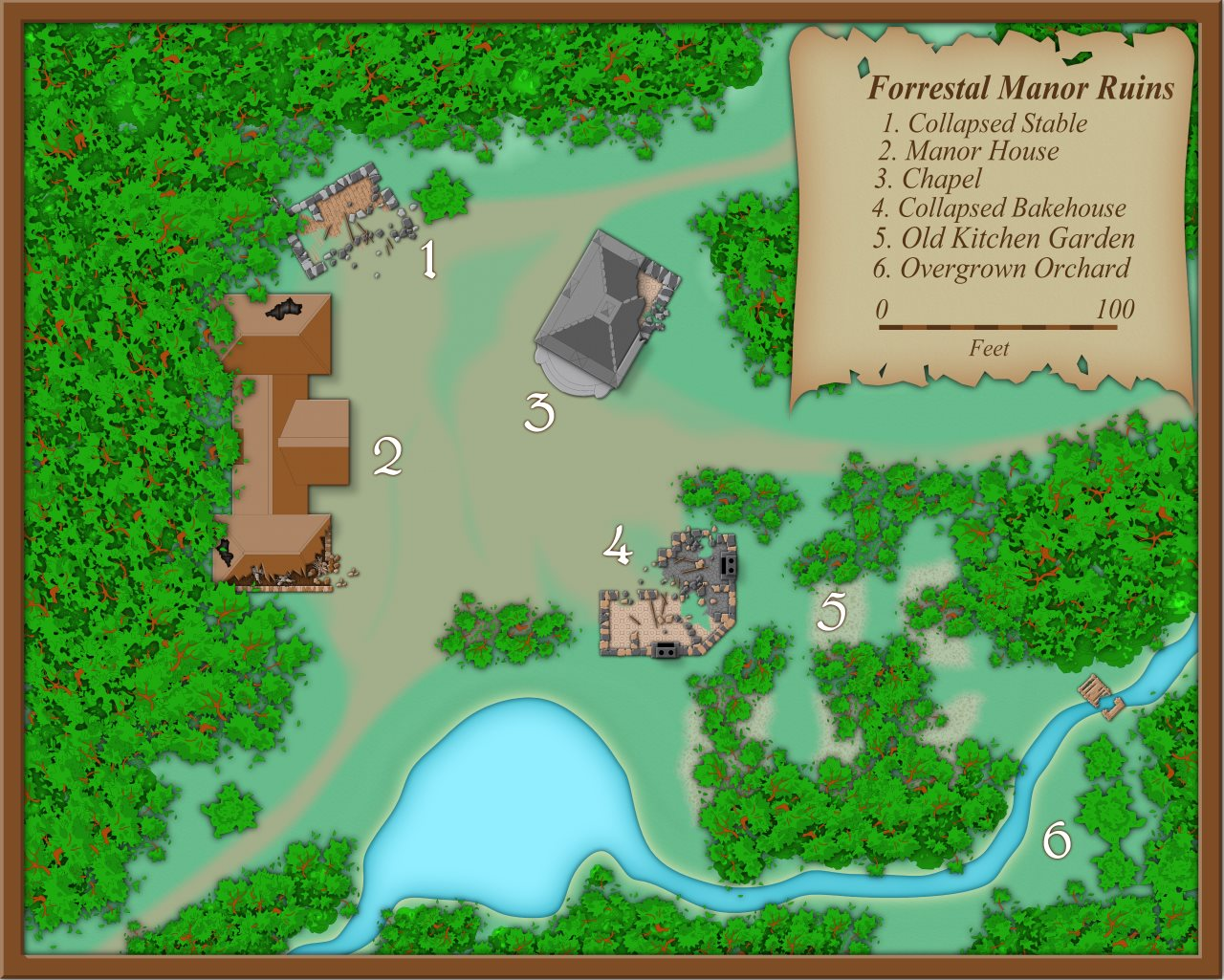 Nibirum Map: forrestal manor ruins by Shessar