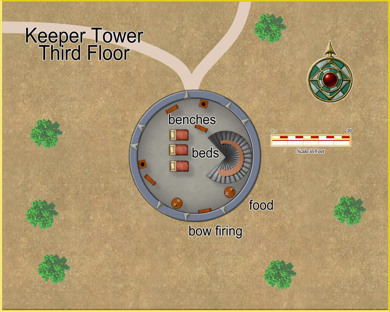Nibirum Map: keeper tower 4 by JimP