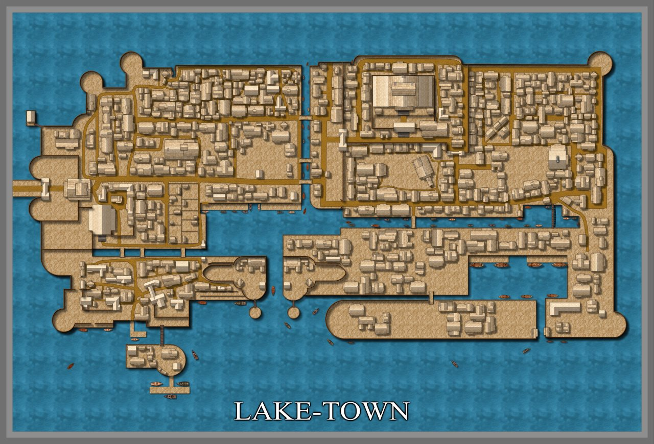 Nibirum Map: lake-town by Curt Lithgow