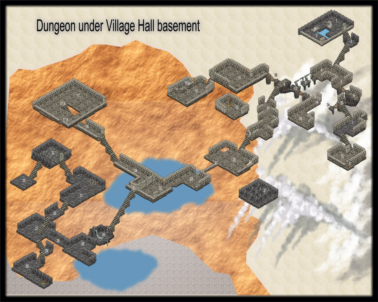 Nibirum Map: lost village hall dungeon by JimP