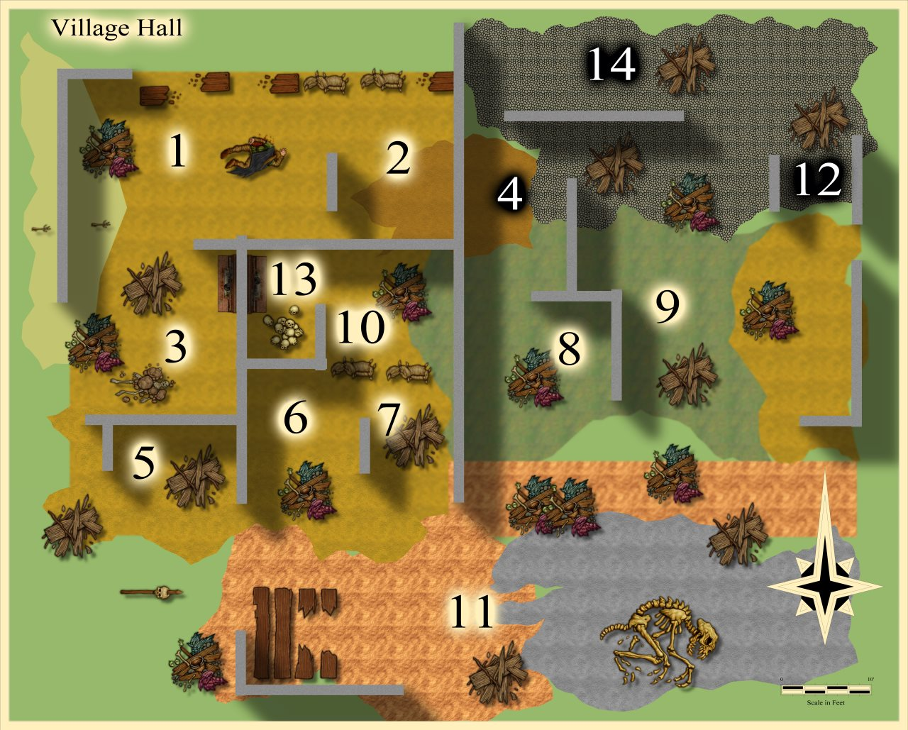 Nibirum Map: lost village hall by JimP