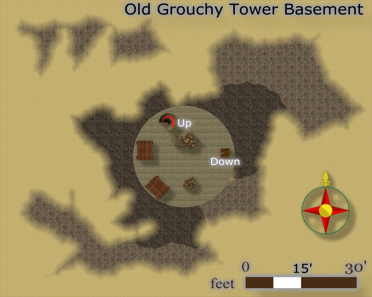 Nibirum Map: old grouchy tower basement by JimP