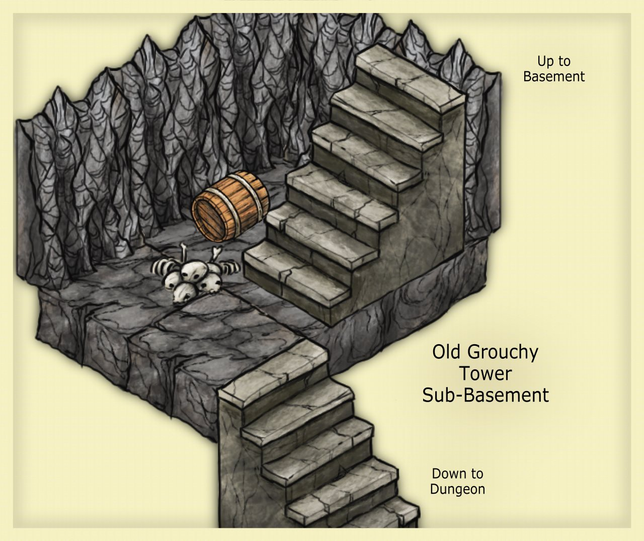 Nibirum Map: old grouchy tower sub basement by JimP
