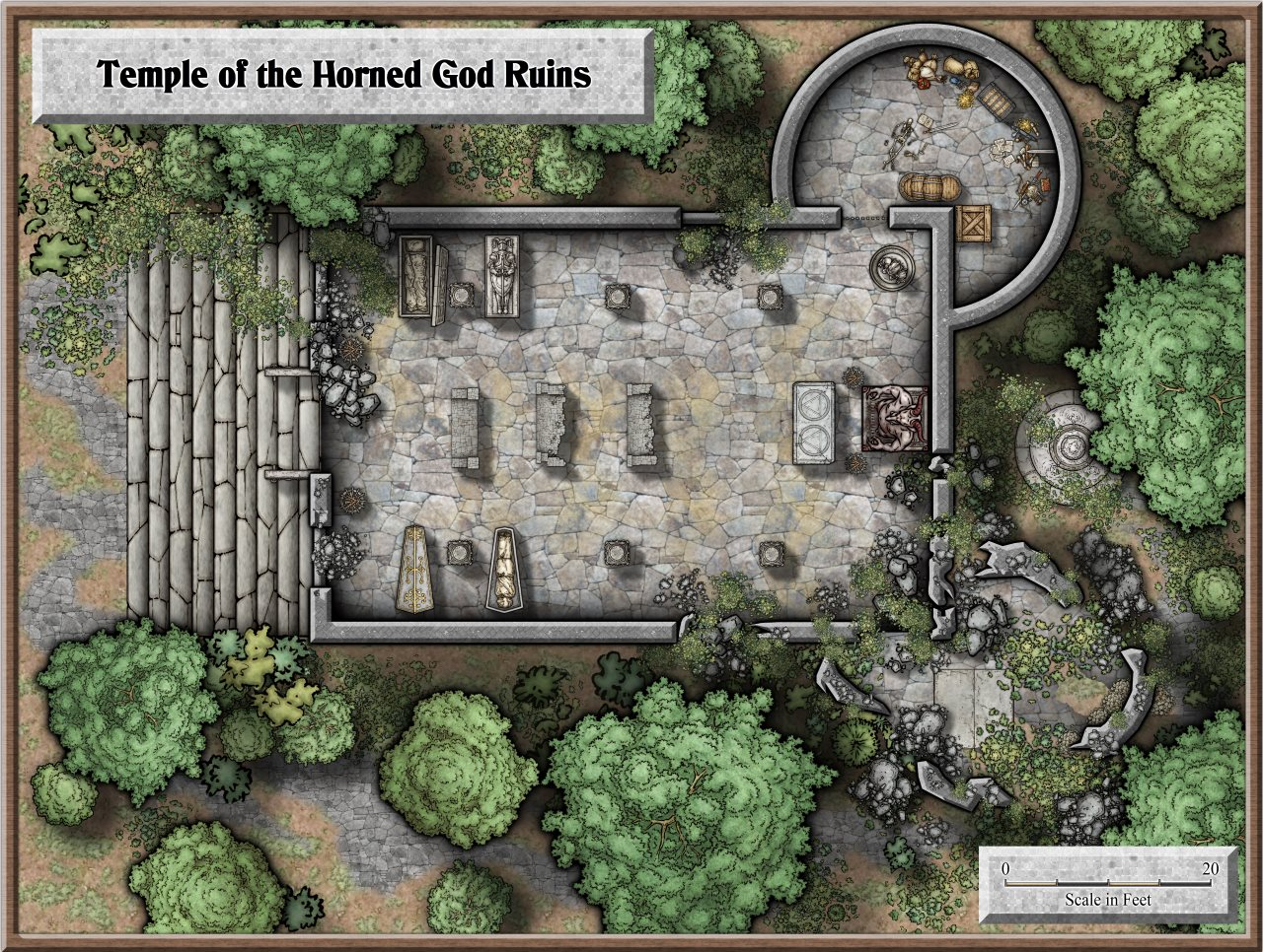 Nibirum Map: temple of the horned god by Lorelei